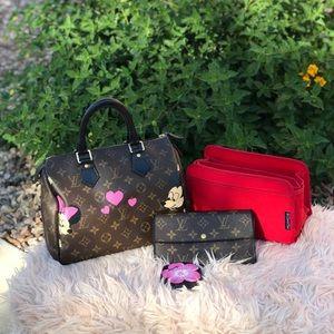 ✅Auth Louis Vuitton Speedy 25 get free Lv wallet